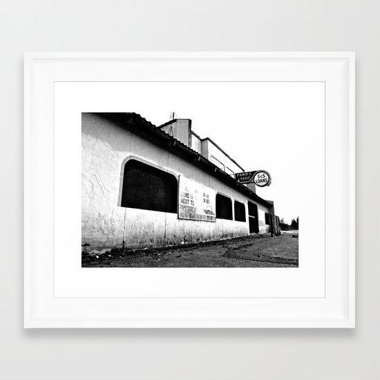 Empty pawn shop Framed Art Print