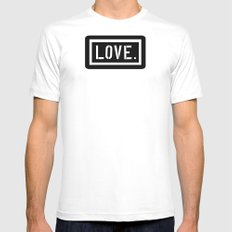 Love Stencil Mens Fitted Tee SMALL White