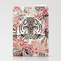 tiger Stationery Cards featuring TIGER by Monika Strigel