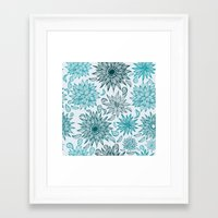 Seamless flower pattern Framed Art Print