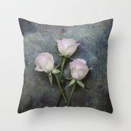 Three Roses I Throw Pillow