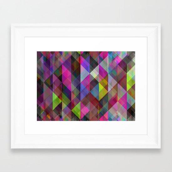 Winter Geometric 2 Framed Art Print