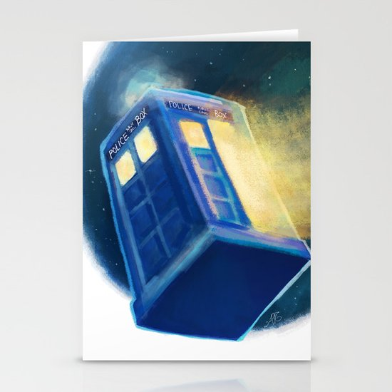 The TARDIS Stationery Card