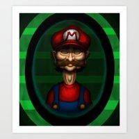 Sad Mario Art Print