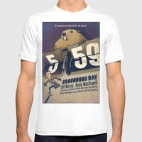 Groundhog Day Mens Fitted Tee White SMALL