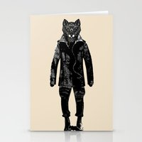 DapperWolf Stationery Cards