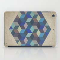 Dimension In Blue iPad Case