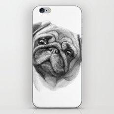 The Pug G123 iPhone & iPod Skin