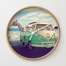 NEVER STOP EXPLORING THE BEACH Wall Clock