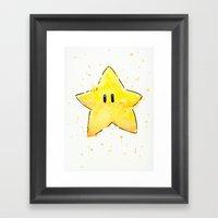Invincibility Star Framed Art Print