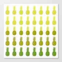 Pineapples - Sunrise Canvas Print