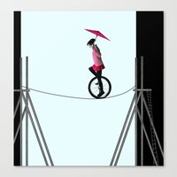 Try To Keep The Balance Canvas Print