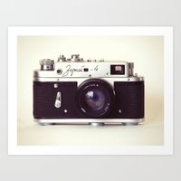Zorki Vintage Camera Art Print