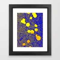 Gold And Blue Harmony Framed Art Print