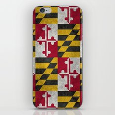 State flag of Flag of Maryland - Vintage retro style iPhone & iPod Skin