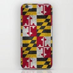 State flag of Flag of Maryland - Vintage retro style iPhone & iPod Skin