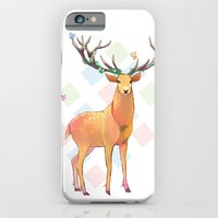iPhone & iPod Case featuring Deer and Diamonds by Crystal Chan