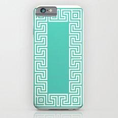 Greek Key turquoise iPhone 6 Slim Case