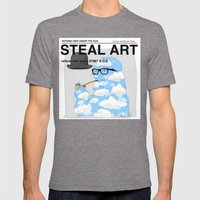 STEAL ART Mens Fitted Tee Tri-Grey SMALL
