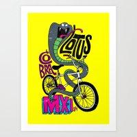 Lotus BMX Art Print