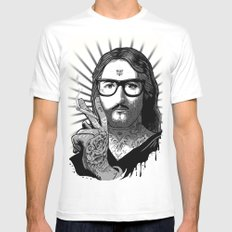 Jesus Bane #02 SMALL Mens Fitted Tee White