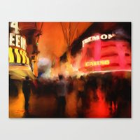 Fremont At Night Canvas Print