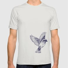 lost bird Mens Fitted Tee Silver SMALL