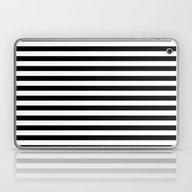 Modern Black White Strip… Laptop & iPad Skin