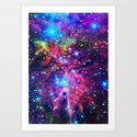 Astral Nebula Art Print