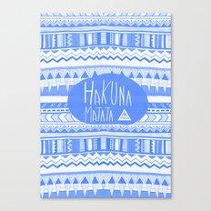 Hakuna Matata electric blue  Canvas Print