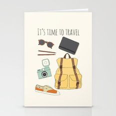 It's Time to Travel Stationery Cards