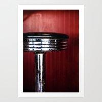 Diner Stool Art Print