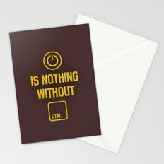Power is nothing without Control Stationery Cards