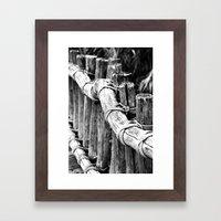 wooden bridge Framed Art Print