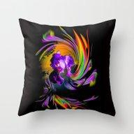 Throw Pillow featuring Fertile Imagination 18 by Walter Zettl