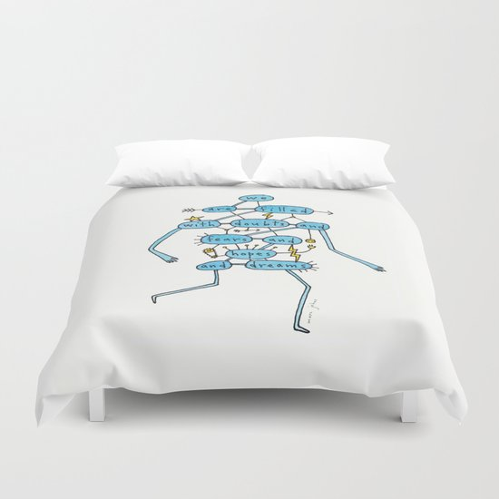 doubts and fears and hopes and dreams Duvet Cover