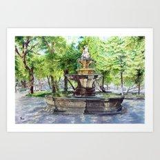 Old Fountain at Split, Croatia Art Print