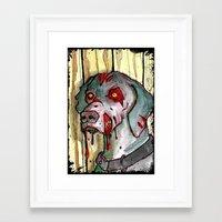 zombie dog Framed Art Print