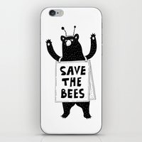 SAVE THE BEES iPhone & iPod Skin