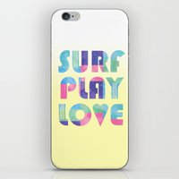 Surf Play Love iPhone & iPod Skin