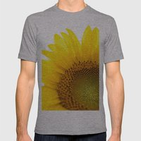 Sunflower Detail - Yellow Mens Fitted Tee Athletic Grey SMALL