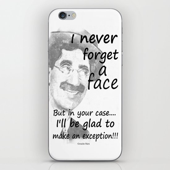 I never forget a face iPhone & iPod Skin