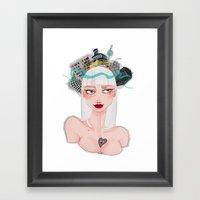 Ber(lin) Framed Art Print