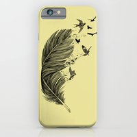 Feather Birds BW iPhone 6 Slim Case