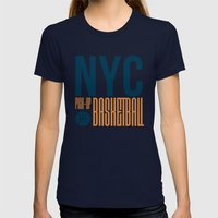 N.Y.C. Pick-Up Basketball Womens Fitted Tee Navy SMALL