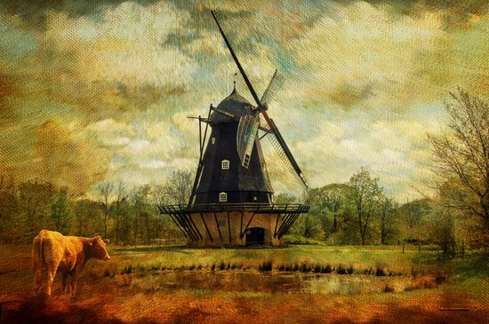Danish Windmill 1832 Art Print