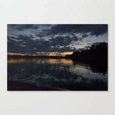 A cloudy sunset. Canvas Print