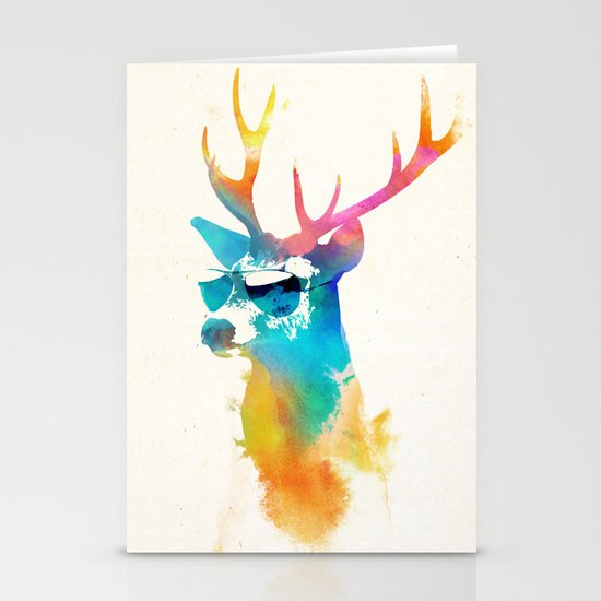 Sunny Stag Stationery Card