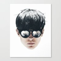 Sea Boy Portrait Canvas Print