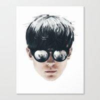 Sea Boy Portrait Canvas Print